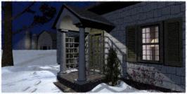 porch light on